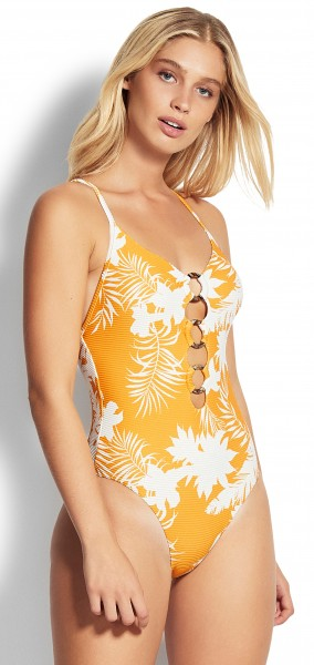 WILD TROPICS Ring Front Maillot von SEAFOLLY